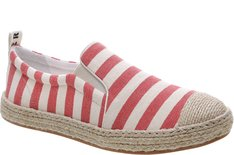 Tênis Bay Slip On Listras Red Mary