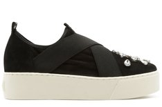 Tênis California Slip On Crystal Preto