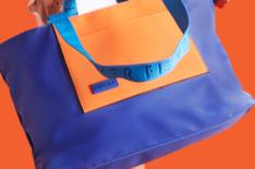 Shopping Azul e Laranja Nylon