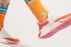 Tênis Beat Multicolorido Slip On Fake Lace Feminino