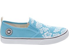 Tênis Long Slip On Hibisco Azul