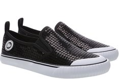 Tênis Long Slip On Paetê Preto