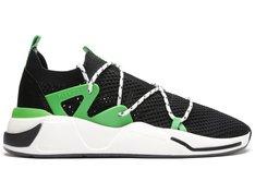 Tênis Preto E Verde Beat Lace Knit Masculino
