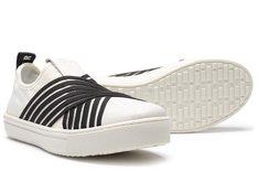 Tênis Malibu Slip On Elastic Marfim