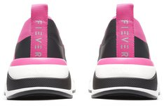 Tênis Rosa e Preto Beat Flow Slip On Feminino