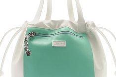 Bolsa Branca e Verde Shopping