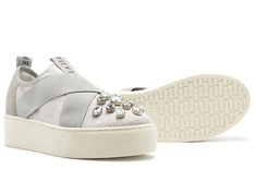 Tênis California Slip On Crystal Grey