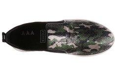 Tênis Malibu Paetê Camuflado Olive Army Sola Alta
