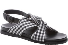 Sport Sandal Nó Tecido Vichy Preto