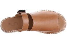 Mule Espadrille Couro Old Whisky