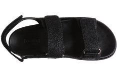 Sport Sandal Velcro Lurex Preto