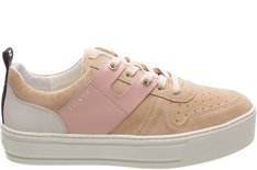 Tênis Newport Cow Suede New Sand Sola Alta