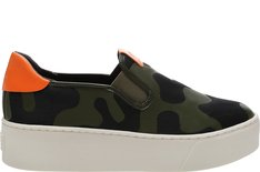 Tênis California Slip On Camo Verde