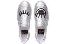 Tênis California Slip On Glitter Prateado