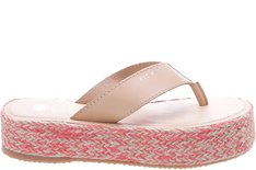Chinelo Flatform Couro New Sand Sola Juta Natural