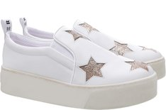 Tênis California Stars Slip On Branco