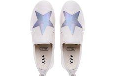 Tênis Malibu Hologram Star Marfim Sola Alta