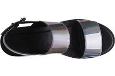 Sandália Tratorada Laser Holográfica Chumbo